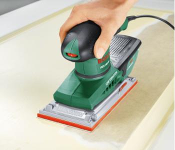 Schuren met een Bosch vlakschuurmachine